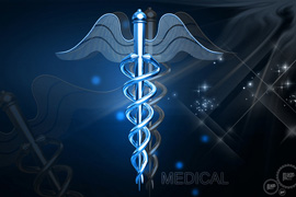 Digital illustration of Medical symbol in  colour background
